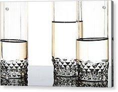 Three Luxury Glasses Acrylic Print by Dmitry Malyshev