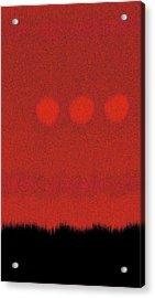 Three Moons In Red Sky Acrylic Print by James Mancini Heath