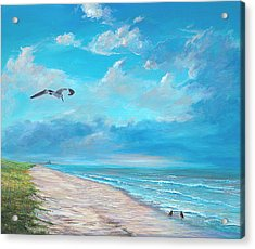 Acrylic Print featuring the painting Three O'clock by AnnaJo Vahle