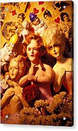 Three Old Dolls Acrylic Print by Garry Gay
