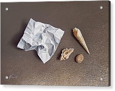 Three Shells For Collection Acrylic Print by Elena Kolotusha