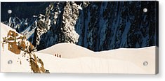 Three Skiers At Chamonix Acrylic Print