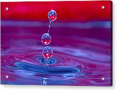 Three Tier Waterdrops Acrylic Print by Trudy Wilkerson