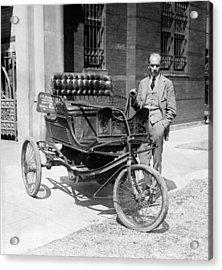 Three-wheel Automobile Acrylic Print by Granger