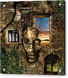 Three Windows One Lies Acrylic Print by Franziskus Pfleghart