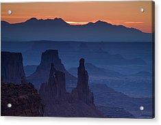 Through Mesa Arch Acrylic Print by Andrew Soundarajan