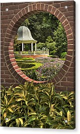 Through The Garden Wall Acrylic Print by William Fields