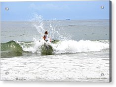 Acrylic Print featuring the photograph Through The Waves by Maureen E Ritter