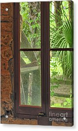Through The Window Back In Time Acrylic Print by Wayne Nielsen