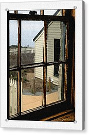 Acrylic Print featuring the digital art Through The Window by MaryJane Armstrong