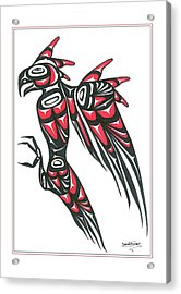 Thunder Bird Red And Black Acrylic Print by Speakthunder Berry