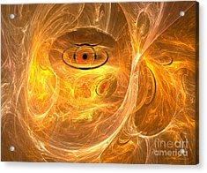 Thunder Eye - Abstract Digital Art Acrylic Print by Sipo Liimatainen