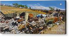 Thunder Mountain Indian Monument - Great Wall Acrylic Print by Gregory Dyer