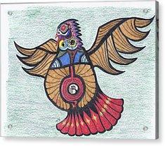 Thunderbird Totem Acrylic Print by Tony  Nelson