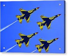 Thunderbirds Ascending Acrylic Print by Michael Wilcox