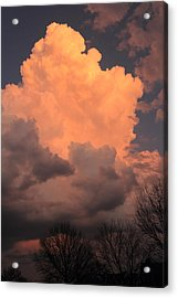 Acrylic Print featuring the photograph Thunderhead In Twilight by Scott Rackers