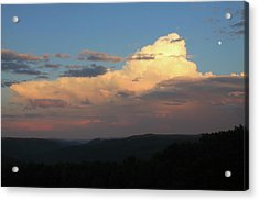 Thunderstorm Over Deerfield River And Green Mountains Acrylic Print by John Burk
