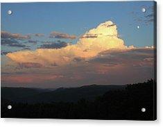 Thunderstorm Over Deerfield River Valley Berkshires Acrylic Print by John Burk