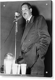 Thurgood Marshall, Then Chief Counsel Acrylic Print by Everett