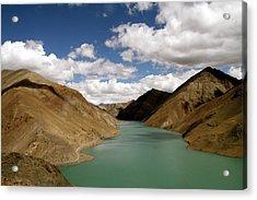 Tibetan Lake Acrylic Print by James Mancini Heath