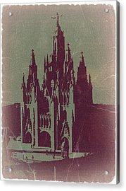 Tibidabo Barcelona Acrylic Print by Naxart Studio