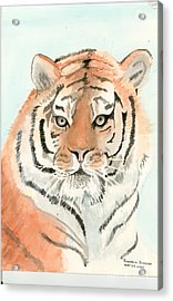 Tiger 1 Acrylic Print by Delores Swanson