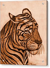 Tiger IIi Acrylic Print by Debbie Portwood
