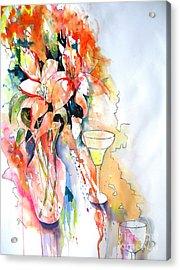 Tiger Lilies Acrylic Print by Vicki Brevell