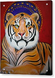 Tiger Saint Acrylic Print by Christina Miller