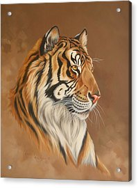 Tiger Tiger Acrylic Print by Kathleen  Hill
