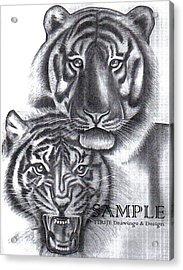Tigers Acrylic Print by Rick Hill