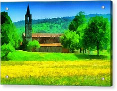 Tiglieto Abbazia Cistercense Acrylic Print