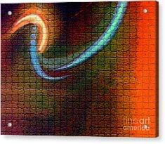 Tiles All Aglow Acrylic Print
