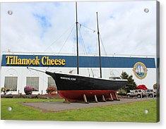 Tillamook Boat Acrylic Print by Michael Wolfe