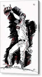 Acrylic Print featuring the painting Tim Lincecum by Terry Banderas