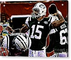Tim Tebow  -  Ny Jets Quarterback Acrylic Print by Paul Ward