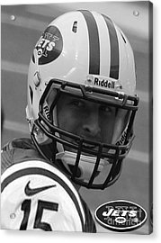 Tim Tebow - Black And White - New York Jets Florida Gators - Timothy Richard Tebow Acrylic Print by Lee Dos Santos
