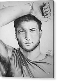 Tim Tebow Acrylic Print by Madelyn Mershon