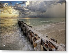 Time And Tide Acrylic Print by Nick  Shirghio