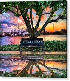 Time For Reflection Acrylic Print by Debra and Dave Vanderlaan