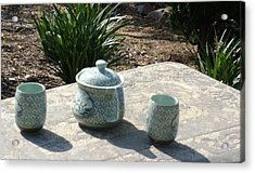 Acrylic Print featuring the photograph Time For Tea by Therese Alcorn