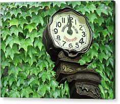 Time In Green Acrylic Print