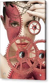 Time Is An Illusion Acrylic Print by Rozalia Toth