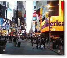 Time Square Acrylic Print by Cecelia Taylor-Hunt