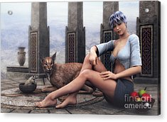 Time To Relax Acrylic Print by Jutta Maria Pusl