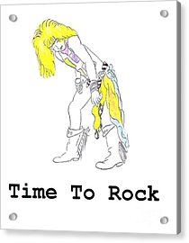 Time To Rock Acrylic Print by Jeannie Atwater Jordan Allen