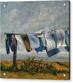 Time To Take In The Laundry Acrylic Print