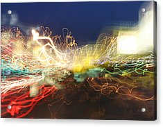 Time Tunnel Acrylic Print by Rick Rauzi