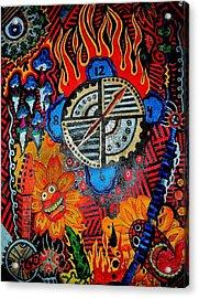 Time Will Tell Acrylic Print by Ragdoll Washburn