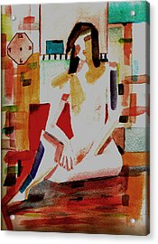 Acrylic Print featuring the painting Timeless by Paula Ayers